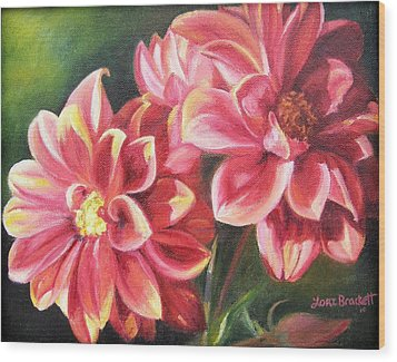 Wood Print featuring the painting Flowers For Mom I by Lori Brackett