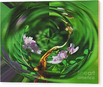 Wood Print featuring the photograph Flowers Gone Wild by Cindy Manero