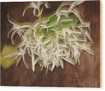 Flowers Wood Print by Indrani Moitra
