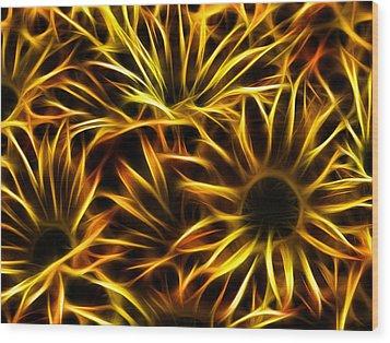 Flowers Of Flames Wood Print by Joetta West