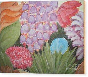 Flowers Wood Print by Rachel Carmichael
