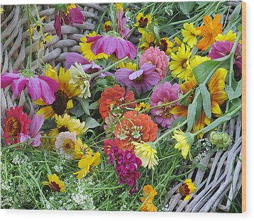 Wood Print featuring the photograph Flowers by Tina M Wenger