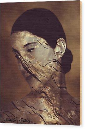 Flowing Wood Print by Jennifer Gelinas