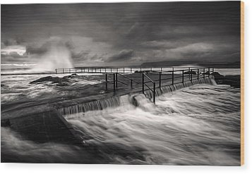 Flowing Mood Wood Print by Mark Lucey