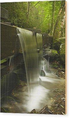Flowing Water Wood Print by Andrew Soundarajan