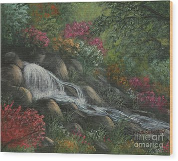 Flowing Waters Wood Print by Kristi Roberts