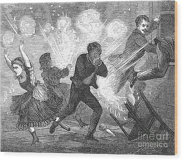 Fluid Lamp Explosion, 1868 Wood Print by Granger