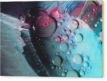Wood Print featuring the photograph Fluidism Aspect 283 Photography by Robert Kernodle