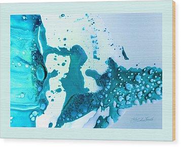 Fluidism Aspect 468 Frame Wood Print by Robert Kernodle