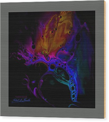 Fluidism Aspect 601-b Frame Wood Print by Robert Kernodle