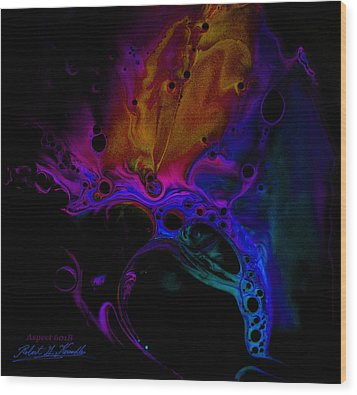 Fluidism Aspect 601-b Photography Wood Print by Robert Kernodle