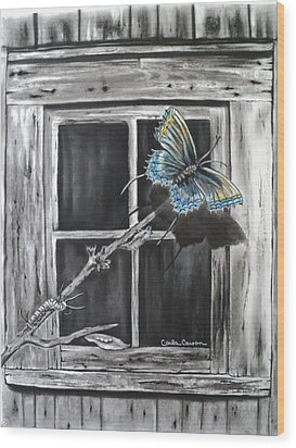 Fly Away Free Wood Print by Carla Carson