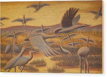 Fly Away Wood Print by Thomas Maynard