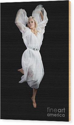 Flying Angel Wood Print by Cindy Singleton