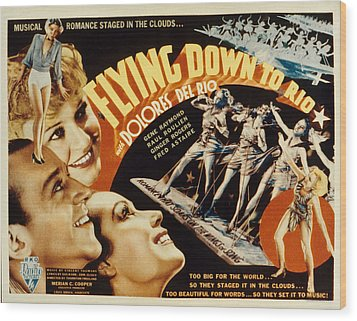 Flying Down To Rio, Fred Astaire Wood Print by Everett
