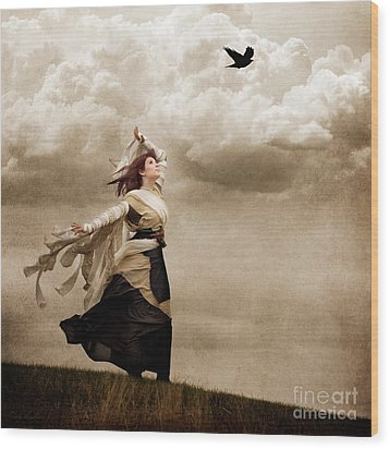 Flying Dreams Wood Print by Cindy Singleton