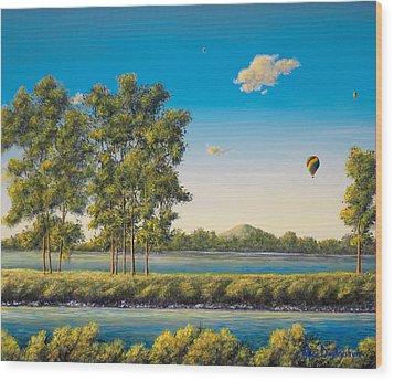 Flying Free Wood Print