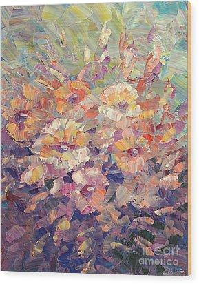 Wood Print featuring the painting Flying Glory by Tatiana Iliina