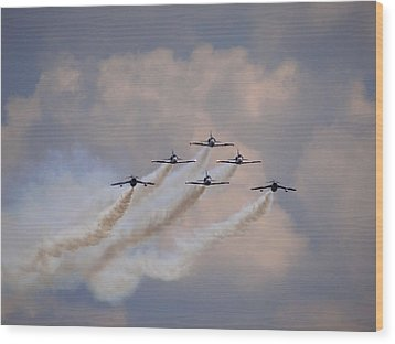 Flying In Formation Wood Print