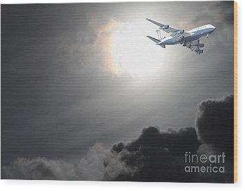 Flying The Friendly Skies Wood Print by Wingsdomain Art and Photography