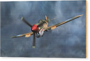 Flying Tiger P-40 Warhawk Wood Print by Walter Colvin
