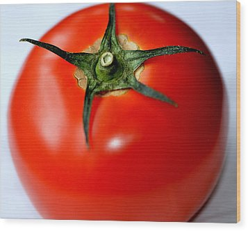 Wood Print featuring the photograph Flying Tomato by Tanya Tanski