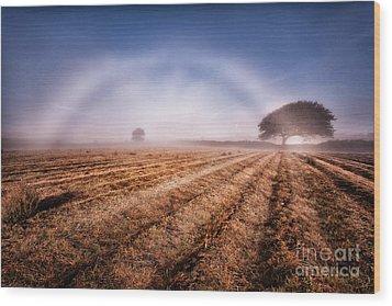 Fog Bow Wood Print by John Farnan