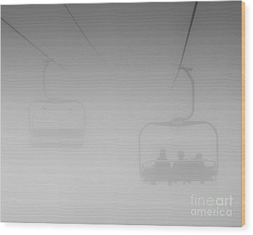 Wood Print featuring the photograph Fog by Eunice Gibb