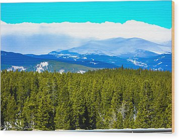 Wood Print featuring the photograph Fog In The Rockies by Shannon Harrington