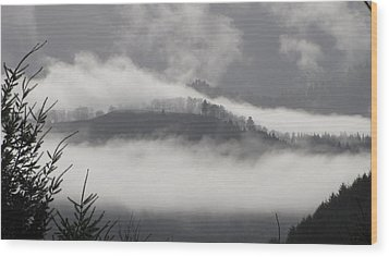 Wood Print featuring the photograph FOG by Katie Wing Vigil