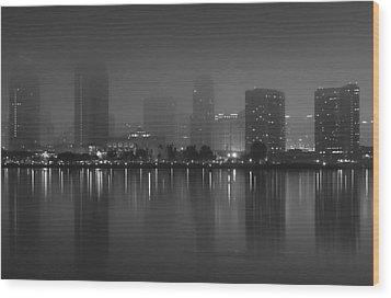 Fog On The Bay Wood Print