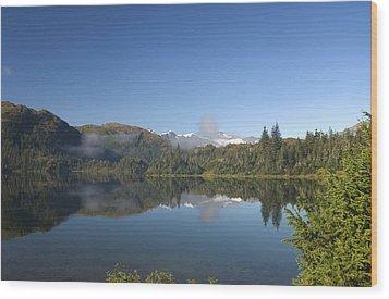 Fog Over Shrode Lake II Wood Print by Gloria & Richard Maschmeyer