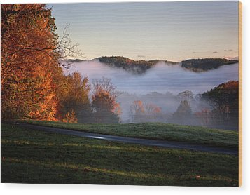 Wood Print featuring the photograph Foggy Dawn by Tom Singleton