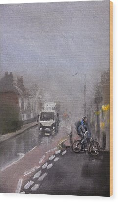 Foggy Herne Bay 2 Wood Print by Paul Mitchell