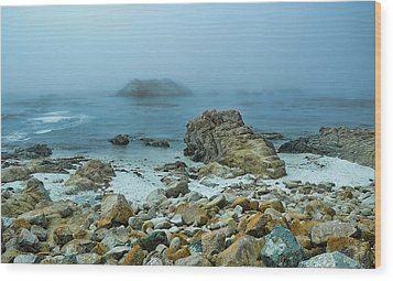 Wood Print featuring the photograph Foggy Morning On The Coast by Renee Hardison