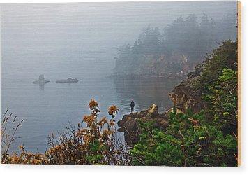 Foggy Morning Wood Print by Robert Bales