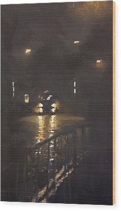 Foggy Street 4 Wood Print by Paul Mitchell