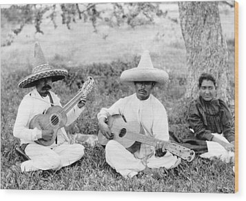 Folk Music. Musical Picnic, Photo Wood Print by Everett