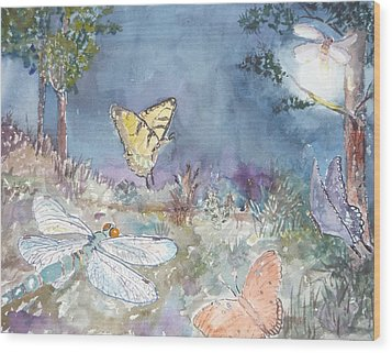 Follow The Firefly Wood Print by Dorothy Herron