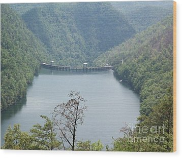 Wood Print featuring the photograph Fontana Dam by Janice Spivey