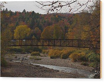 Foot Bridge Wood Print by Robert  Torkomian