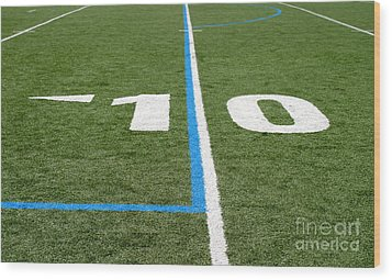 Wood Print featuring the photograph Football Field Ten by Henrik Lehnerer