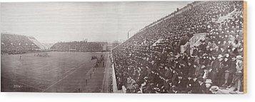 Football, Panorama Of The Harvard - Wood Print by Everett