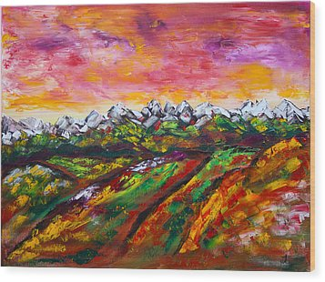 Foothills Fall Wood Print by James Bryron Love