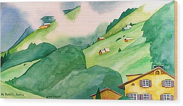 Foothills Of Au Wood Print