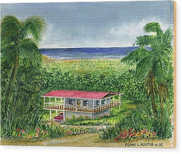 Foothills Of El Yunque Puerto Rico Wood Print by Frank Hunter