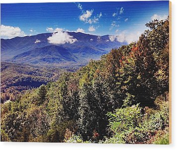 Wood Print featuring the photograph Foothills Parkway Tennessee by Janice Spivey