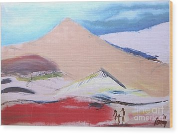 Foothills Wood Print by Rod Ismay
