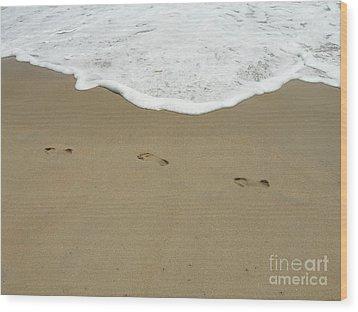 Wood Print featuring the photograph Footprints by Arlene Carmel