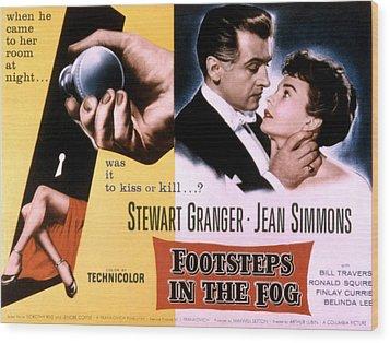 Footsteps In The Fog, Stewart Granger Wood Print by Everett